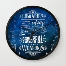 Libraries Wall Clock