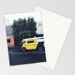 yellow magic van Stationery Cards