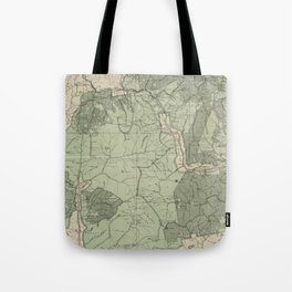Vintage White Mountains New Hampshire Map (1915) Tote Bag