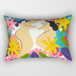 Couple Flowes Rectangular Pillow