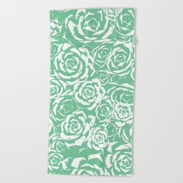Succulent Stamp Light Green #524 Beach Towel