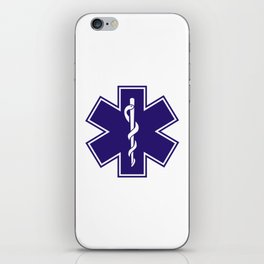 Ambulance Blue Star of Life iPhone Skin