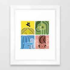 Fab Four Pets Framed Art Print