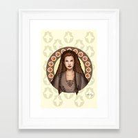 leia Framed Art Prints featuring Leia by Miguel Angel Carroza