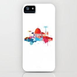 Jerusalem Cityscape Watercolor iPhone Case