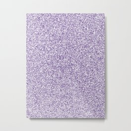 Spacey Melange - White and Dark Lavender Violet Metal Print