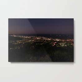 Wollongong from Mount Keira Sumit Metal Print