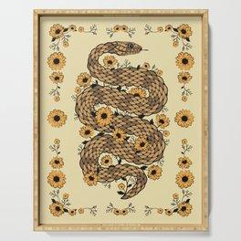 Floral snake Serving Tray