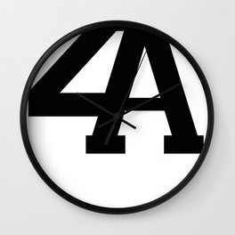 2A in Black Wall Clock