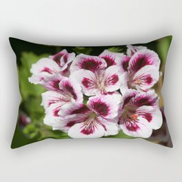 Purple Geraniums Flowers Rectangular Pillow