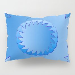 Rounded blue 1 Pillow Sham