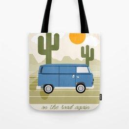 Van Life IV - desert van road tripping travel camping bus RV art Tote Bag