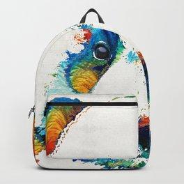 Colorful Panda Bear Art By Sharon Cummings Backpack