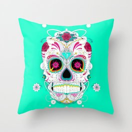 Calavera Throw Pillow