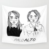 cactei Wall Tapestries featuring Palo Alto by ☿ cactei ☿