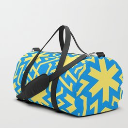Abstract yellow-blue snow pattern Duffle Bag