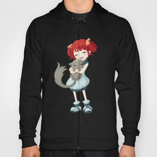 Girl and a Cat Hoody