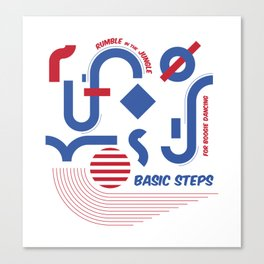 Basic steps for boogie dancing Canvas Print