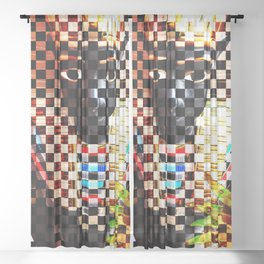 Punk Pharoah Tutenrocken Sheer Curtain