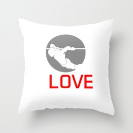 Standing Pushing Gymnastics Vaults Climb Up I Love Korean Dips Fitness Workout Gift Throw Pillow