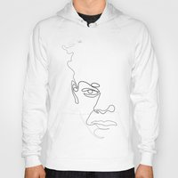 quibe Hoodies featuring Half-a-Basquiat: One line by quibe