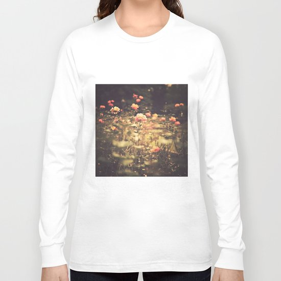 One Rose in a Magic Garden (Vintage Flower Photography) Long Sleeve T-shirt