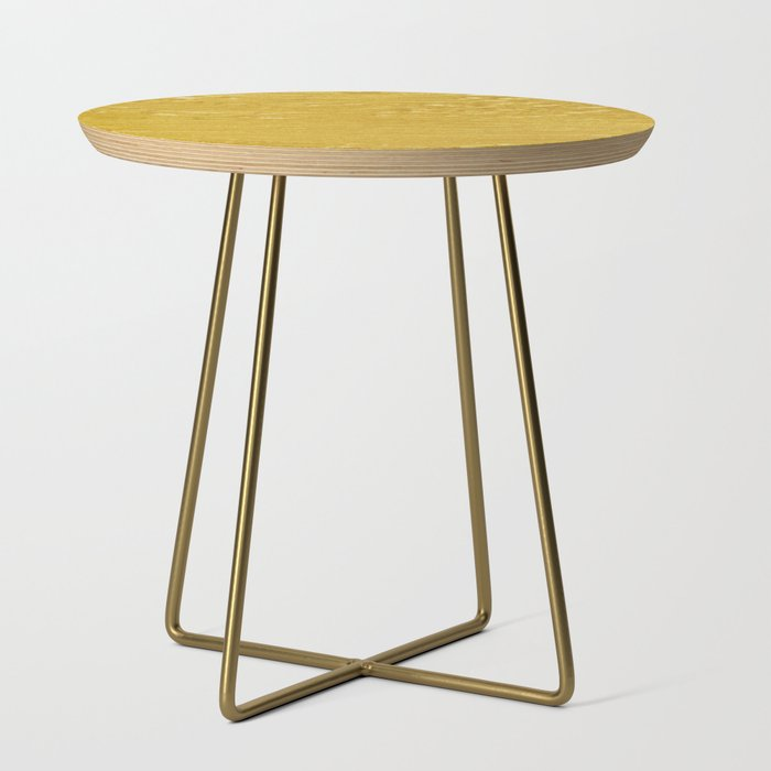 Solid Gold Paint Texture Side Table By Newburydesigns Society6