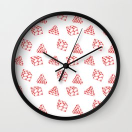 the pyramid and the cube . just elementary . Wall Clock