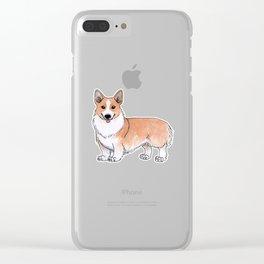 Pembroke Welsh Corgi dog Clear iPhone Case