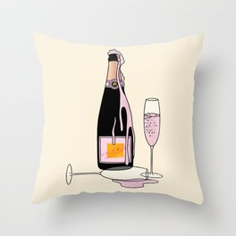 Fancy Champagne Throw Pillow