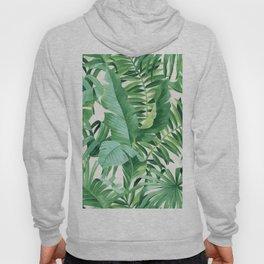 Green tropical leaves III Hoody