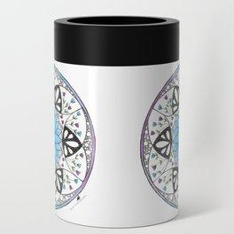 Floral Mandala Can Cooler