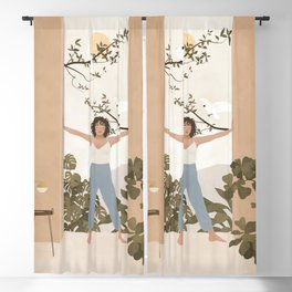 Be brave enough to be bad at something new Blackout Curtain