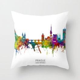 Prague (Praha) Czech Republic Skyline Throw Pillow