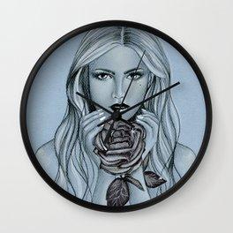 Blackroses 1 Wall Clock