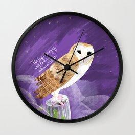 Totem barn owl bird of the year Wall Clock