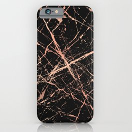 Copper Splatter 091 iPhone Case