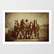 Team Of Horses Art Print