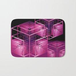 fractal cubes Bath Mat