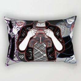 Masks Rectangular Pillow