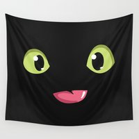 toothless Wall Tapestries featuring Toothless by Tabner's