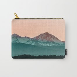 Grainy Sunset Mountain View // Textured Landscape Photograph of the Beautiful Orange and Blue Skies Carry-All Pouch