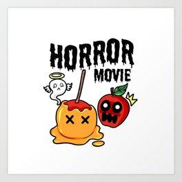 love apple Paradies Horror Movie Halloween Fruit Gift Present Scarry Chocolate Art Print