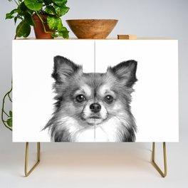 Black and White Chihuahua Credenza