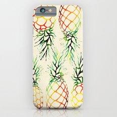 Burlap Pineapples Slim Case iPhone 6