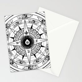 Compass Rose Stationery Cards