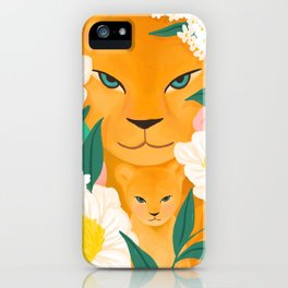 Mother Lion and Cub I iPhone Case