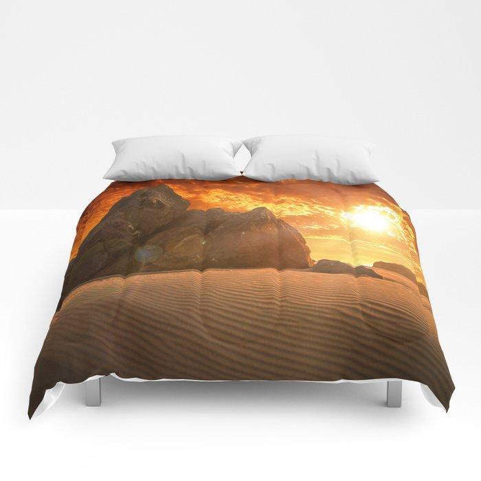 Beautiful sunset  Comforters