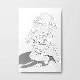 Girl in Nature #1 Metal Print