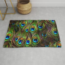 Peacock Feathers Invasion - Wave Rug